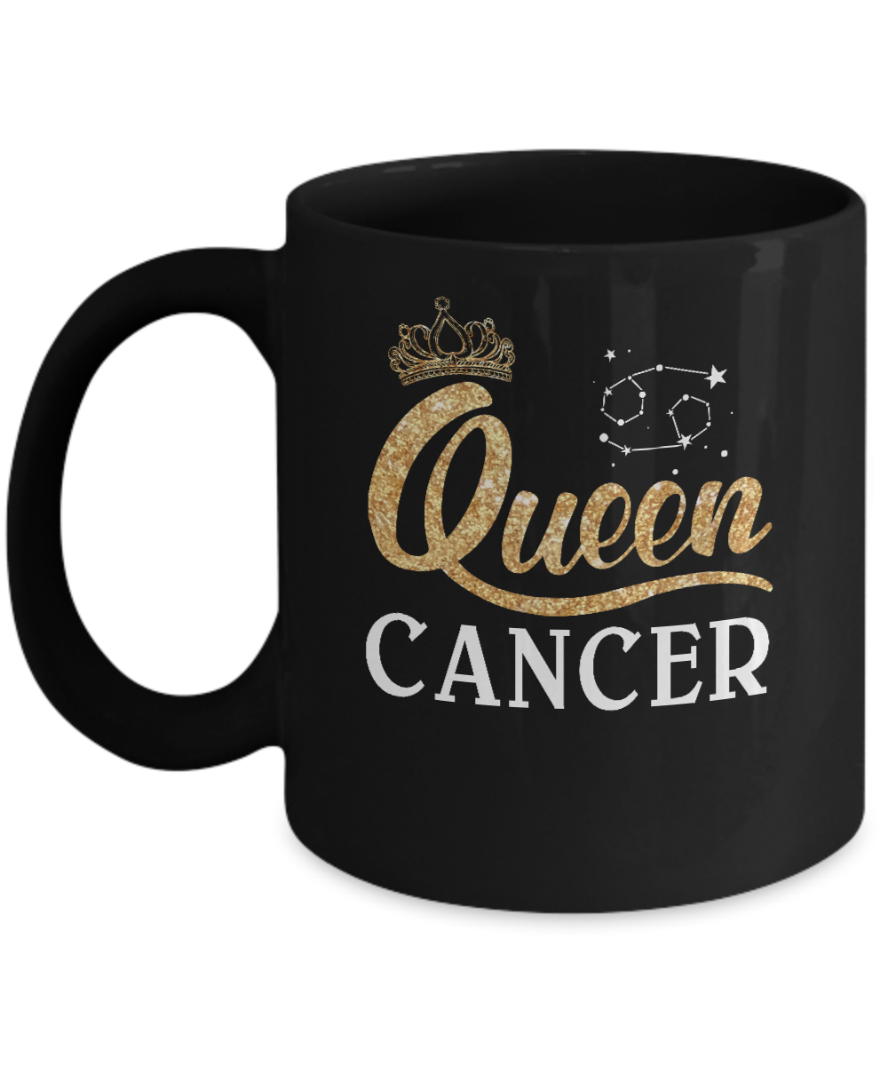 Queen Cancer Zodiac June July Birthday Gift Mug