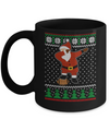 Dabbing Santa Football Ugly Sweater Christmas Mug Coffee Mug | Teecentury.com