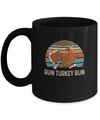 Run Like A Turkey On Thanksgiving Funny Running Runner Gift Mug Coffee Mug | Teecentury.com