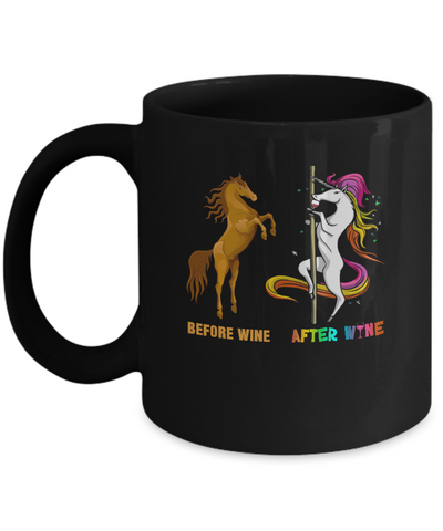 Before Wine After Wine Unicorn Mug Coffee Mug | Teecentury.com