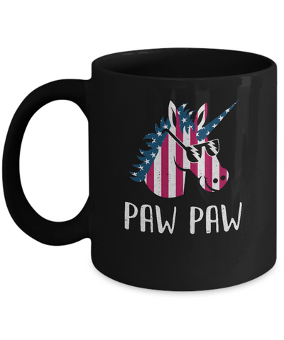 Patriotic Paw Paw Unicorn Americorn 4Th Of July Mug Coffee Mug | Teecentury.com