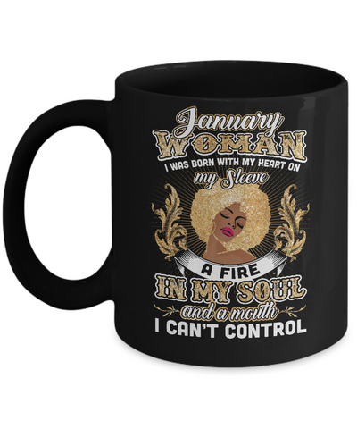 I'm A January Woman Funny Birthday Mug Coffee Mug | Teecentury.com