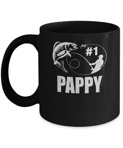 #1 Pappy Fishing Fisherman Best Fathers Day Gift Mug Coffee Mug | Teecentury.com