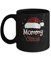 Santa Mommy Claus Red Plaid Family Pajamas Christmas Gift Mug Coffee Mug | Teecentury.com