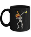 Halloween Dabbing Skeleton Softball Mug Coffee Mug | Teecentury.com