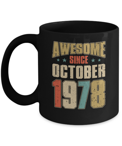 Vintage Retro Awesome Since October 1978 42th Birthday Coffee Mug | Teecentury.com