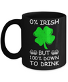 0% Irish 100% Down To Drink St Patrick's Day Mug Coffee Mug | Teecentury.com