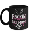 Rocking The Cat Mom Life Mug Coffee Mug | Teecentury.com