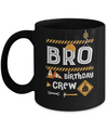 Brother Birthday Crew Construction Birthday Party Gift Mug Coffee Mug | Teecentury.com