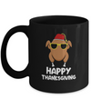 Turkey Head Happy Thanksgiving Glasses Red Hat Funny Mug Coffee Mug | Teecentury.com