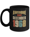Vintage Retro Awesome Since December 1968 52th Birthday Coffee Mug | Teecentury.com