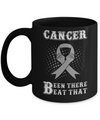 Brain Cancer Been There Beat That Grey Gray Awareness Ribbon Mug Coffee Mug | Teecentury.com