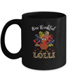 One Thankful Lolli Leopard Turkey Thanksgiving Gift Mug Coffee Mug | Teecentury.com
