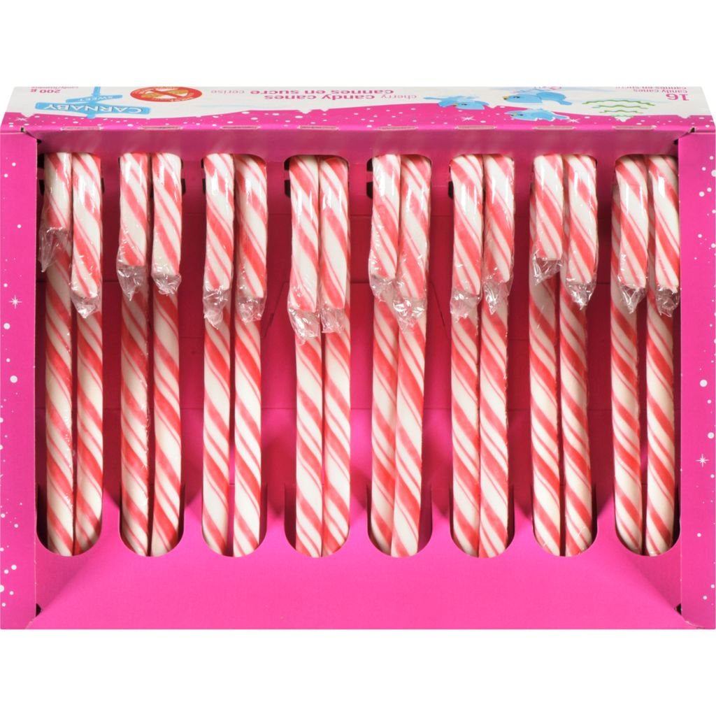 Cherry Candy Canes Set of 16