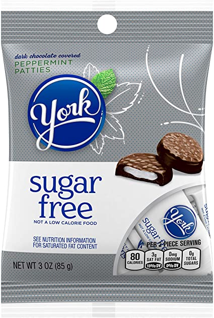 Sugar Free York Dark Chocolate Peppermint Patties