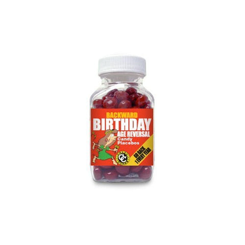 Backward Birthday Age Reversal Candy Placebos