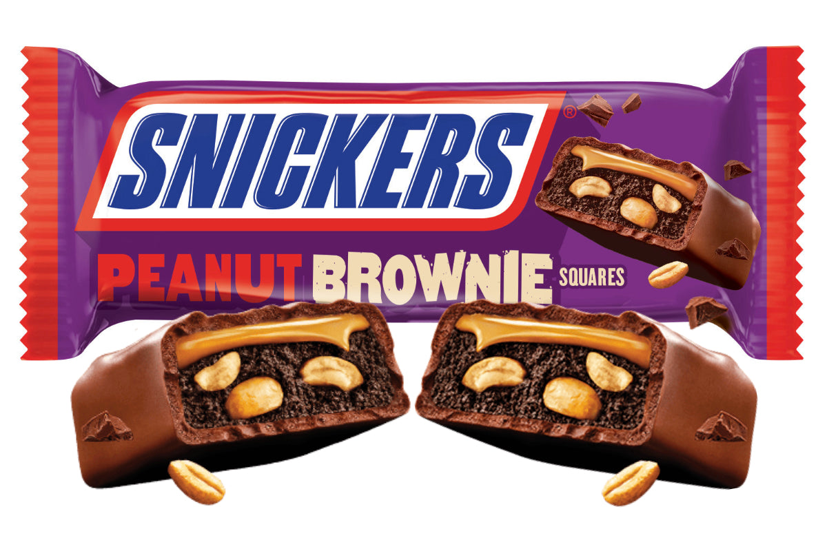 Snickers Peanut Brownie Square