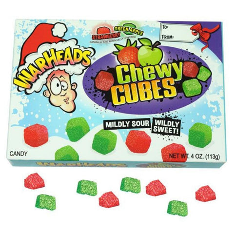 Warheads Christmas Sour Cubes Theatre Box