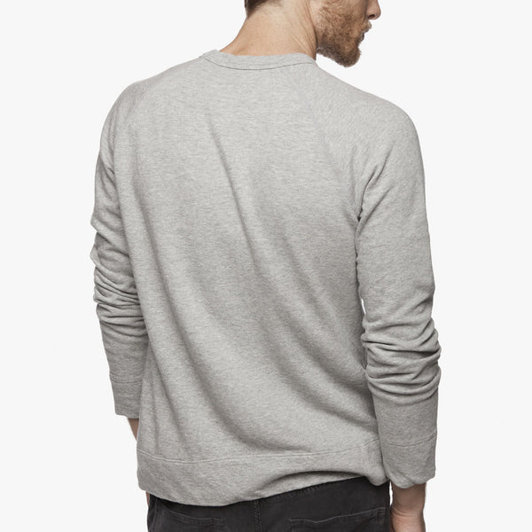 Long Sleeve Vintage Heather Raglan Pullover - Heather Grey, James Perse - KALIBER