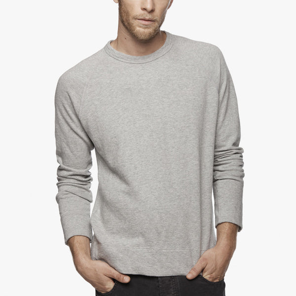 Long Sleeve Vintage Heather Raglan Pullover - Heather Grey