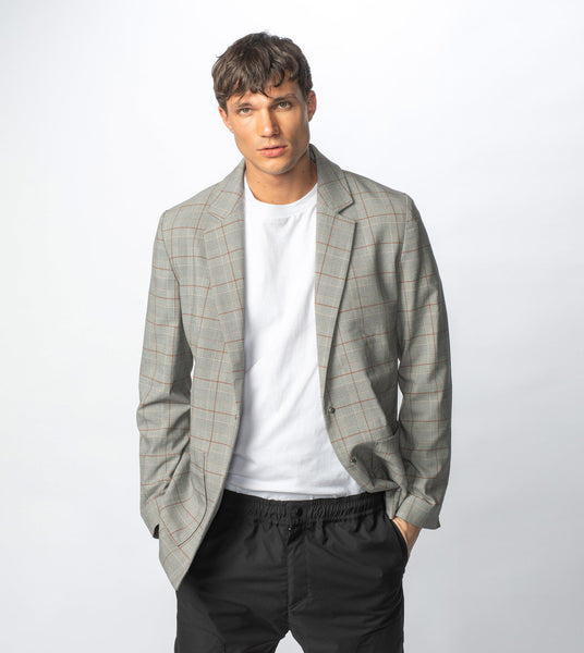 Check Blazer - Grey Check, ZANEROBE - KALIBER