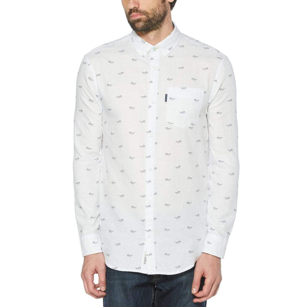 Glasses Print Shirt - Ballad Blue, Original Penguin - KALIBER