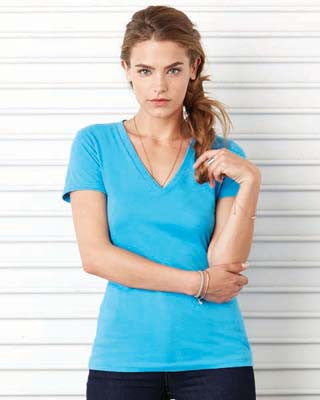Bella 6035BE - Jersey Deep V-Neck Tee