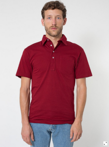 American Apparel 2412 - Fine Jersey Short Sleeve Leisure Shirt