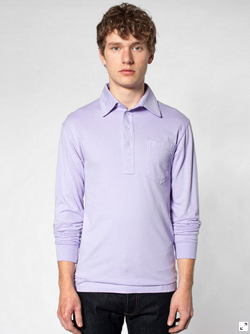 American Apparel 2472 - Fine Jersey Long Sleeve Leisure Shirt