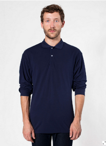 American Apparel PQ472 - Piqué Long Sleeve Shirt