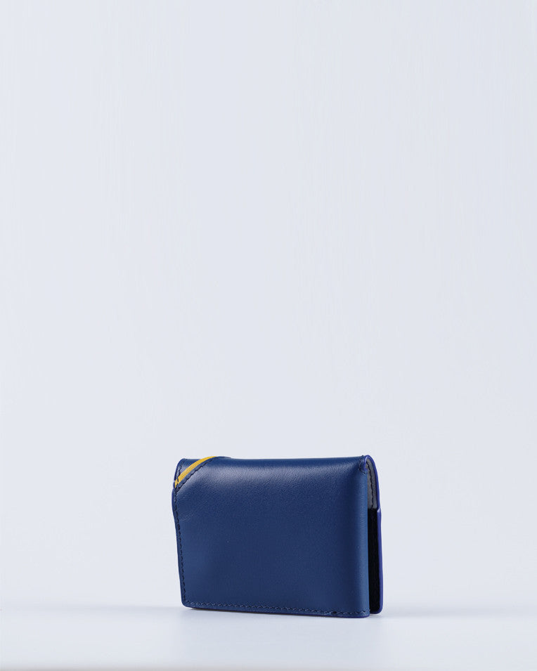 """Linea"" Card holder (Blue) - Manofatto"