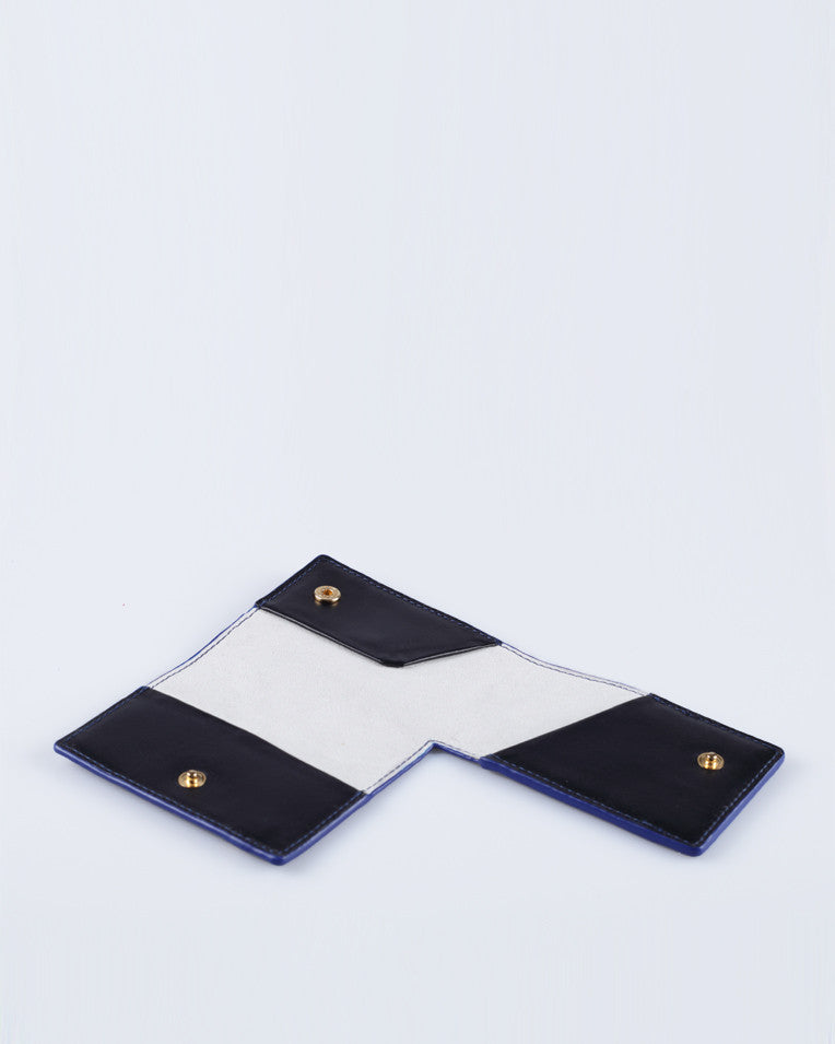 """Linea"" Card holder (Blue)"