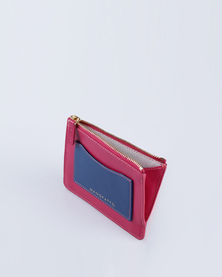 """Linea"" Leather Coin Pouch (Pink)"