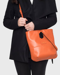 """Cozy"" Crossbody Tote Bag (Dark orange)"