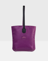 """Cozy"" Crossbody Tote Bag (Dark Purple)"