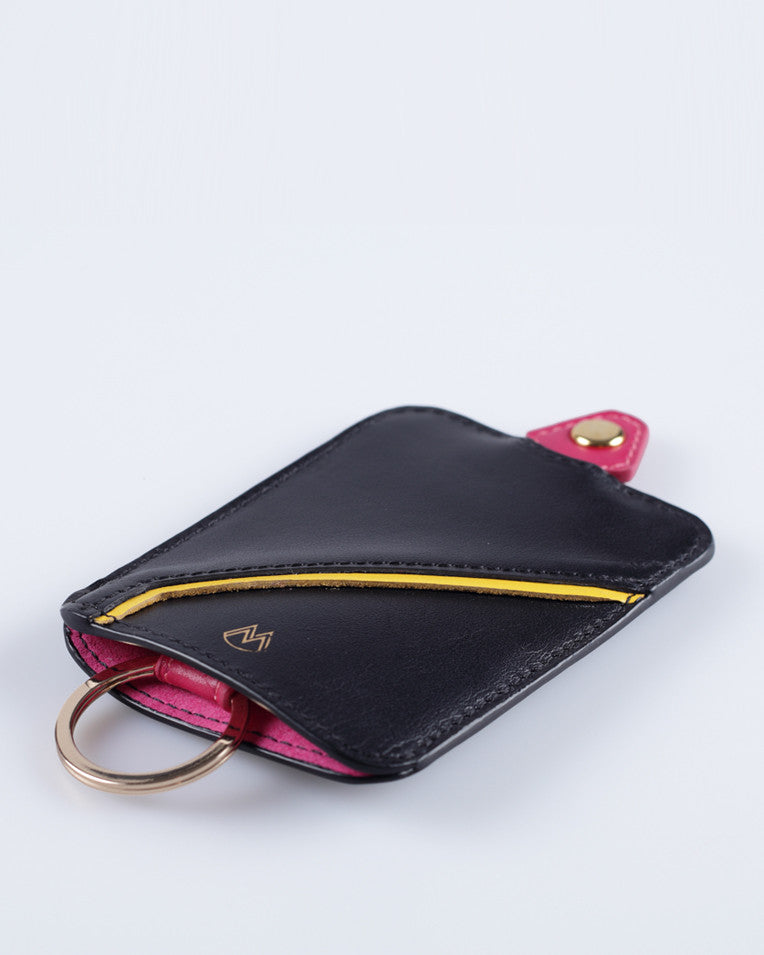 """Linea"" Leather Keyholder (Black)"