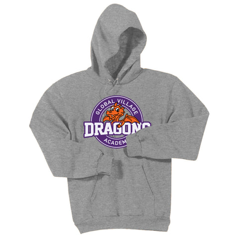 GVA Douglas Dragons Adult Pullover Hooded Sweatshirt (18500)