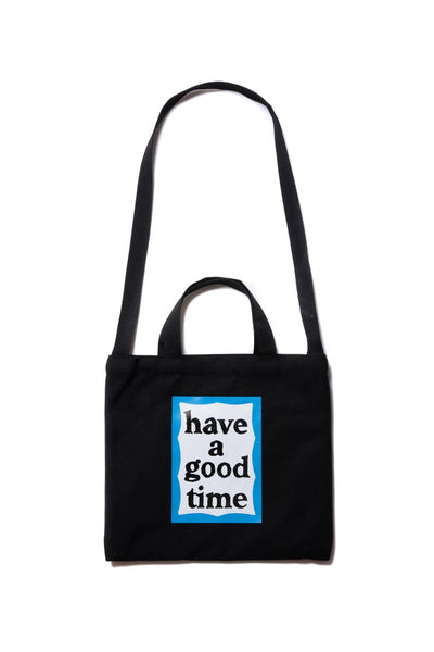 haveagoodtime Blue Frame Two Way Tote Bag in Black
