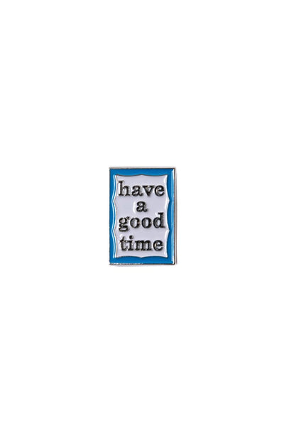 haveagoodtime Blue Frame Pin in Blue