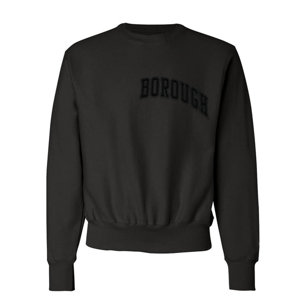 Borough Flock Crewneck x Champion Reverse Weave Black