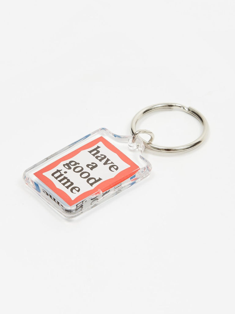 haveagoodtime Blue Red Frame Double Sided Keychain