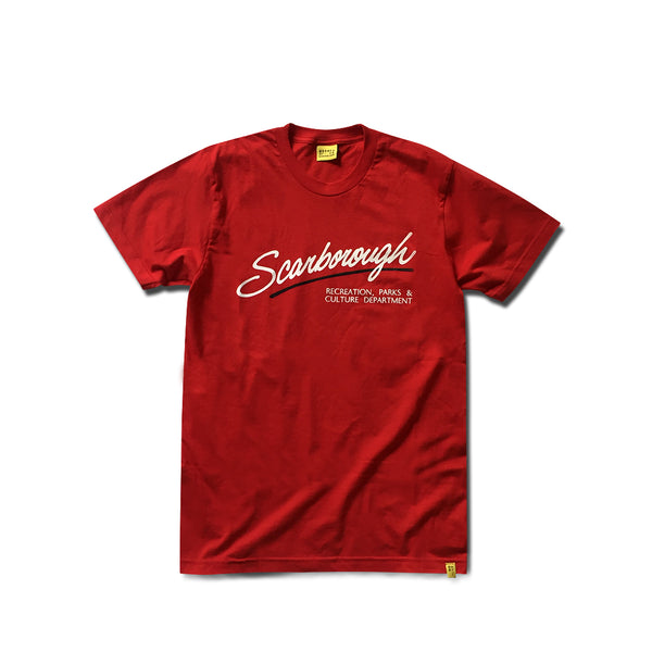 Scarborough Culture Dept x Just Maired Red T-Shirt