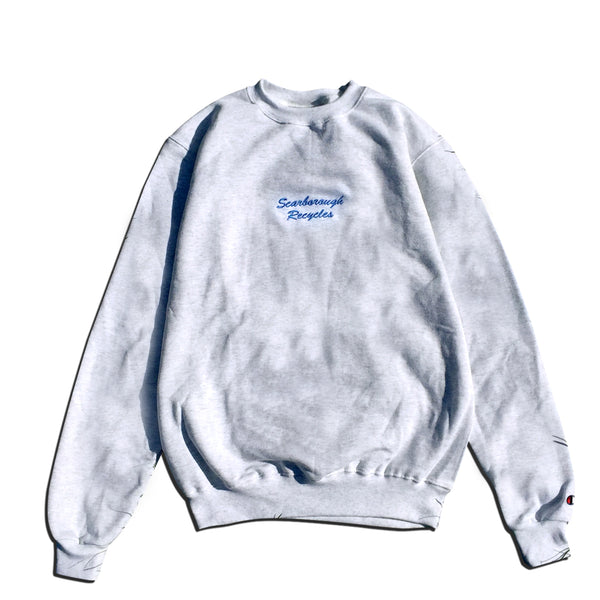 Scarborough Recycles x Champion Crewneck Sweater Ash Grey Blue
