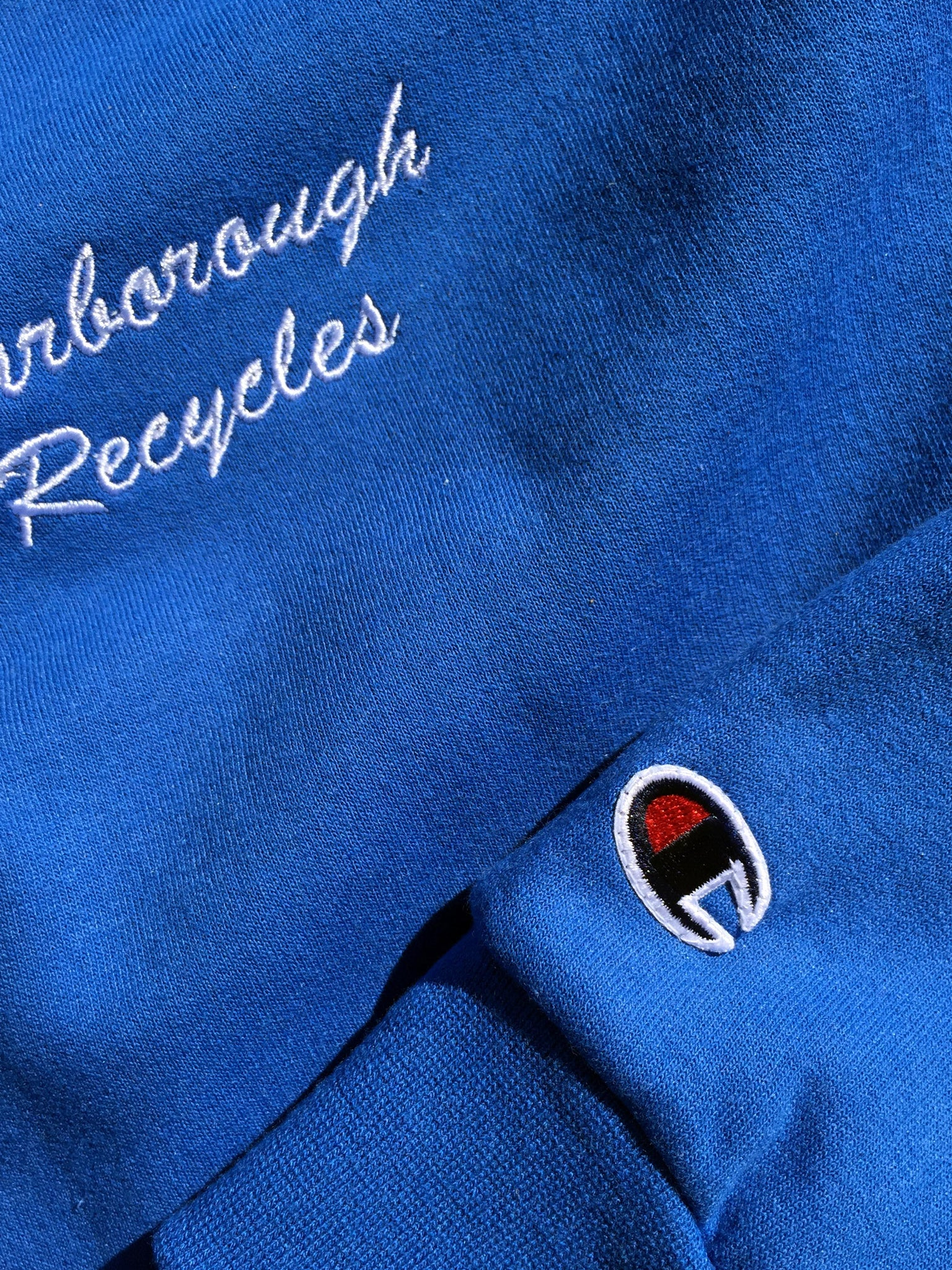 Scarborough Recycles x Champion Crewneck Sweater Blue White