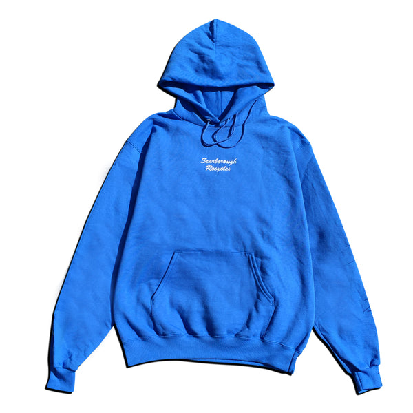 Scarborough Recycles x Champion Hoodie Blue White