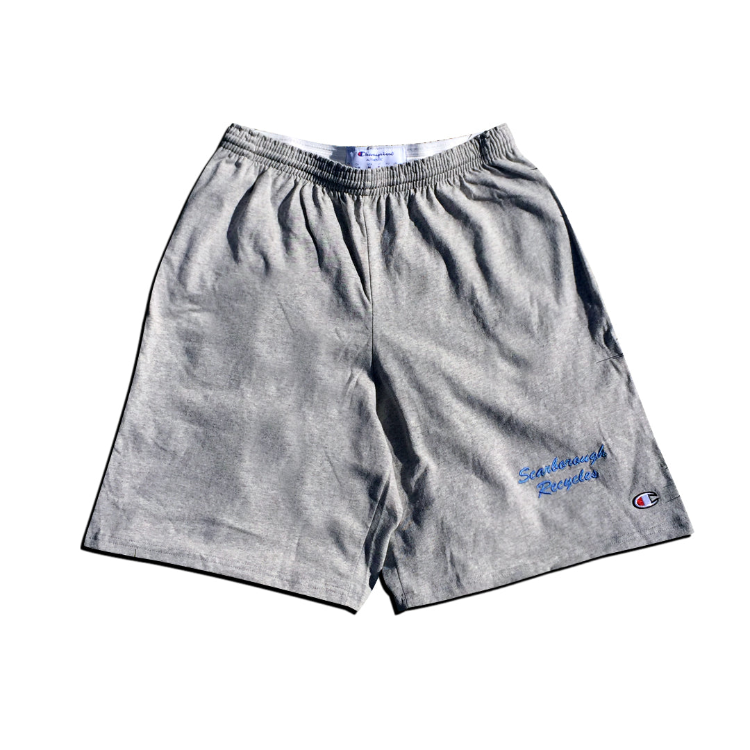 Scarborough Recycles x Champion Cotton Shorts Grey Blue