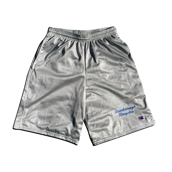 Scarborough Recycles x Champion Mesh Shorts Grey Blue