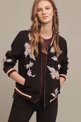 anthro embroidered jacket