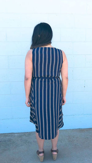 navy work appropriate dresses