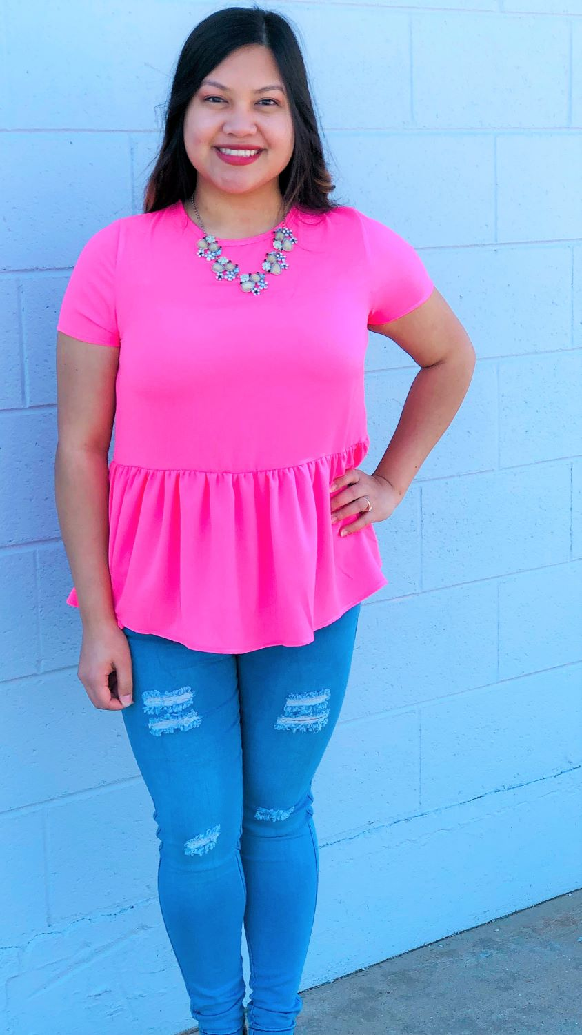 Bright Peplum Top